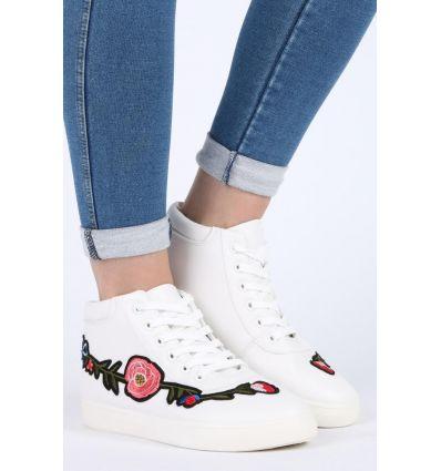 Białe młodzieżowe buty sportowe damskie Johnath