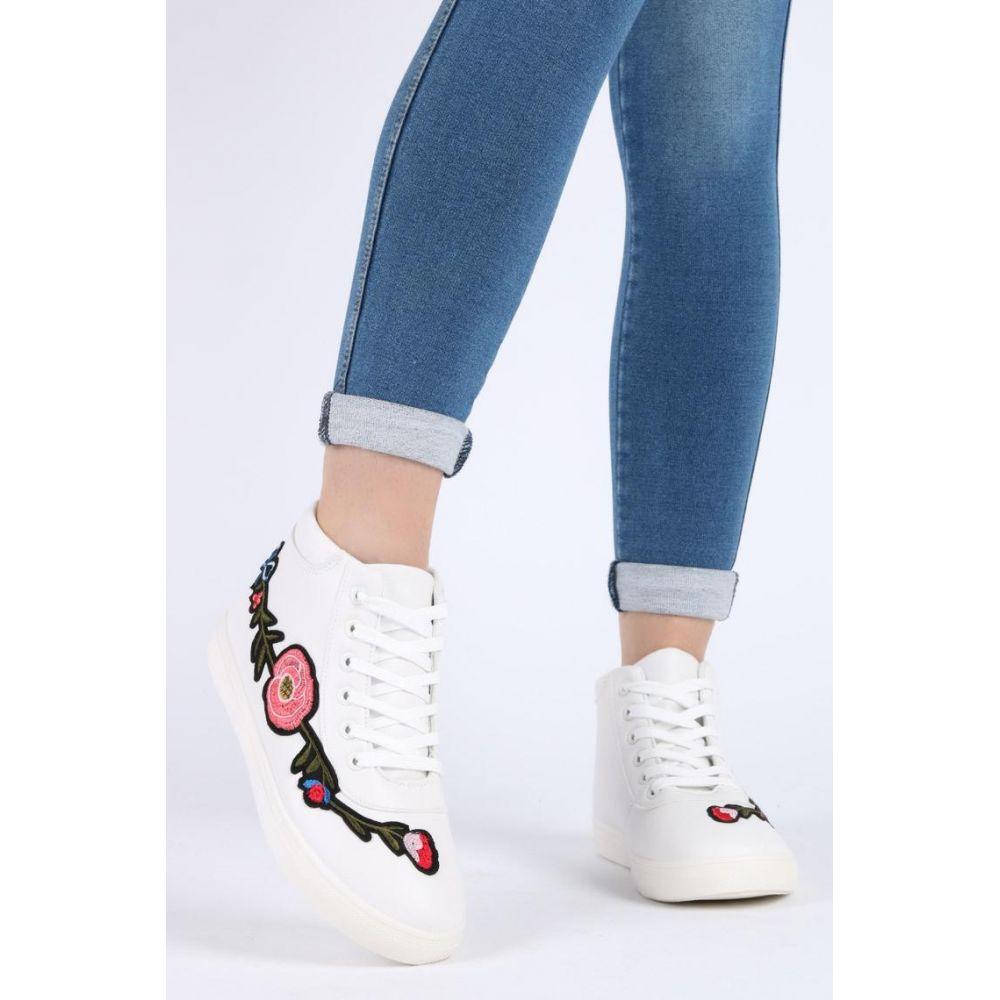 Białe młodzieżowe buty sportowe damskie Johnath Sklepy