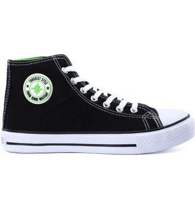 Czarno-zielone trampki młodzieżowe damskie Kalindi