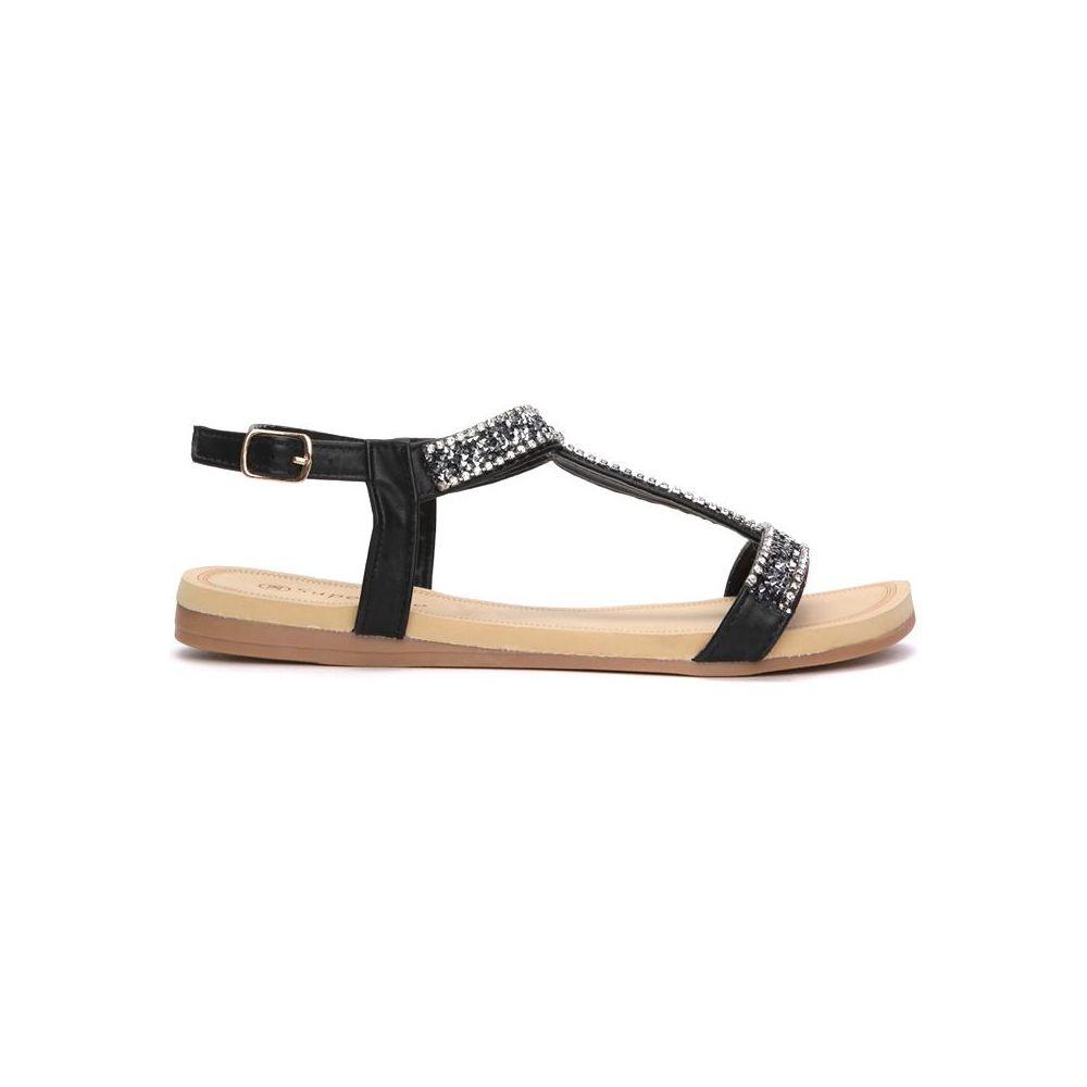 Czarne sandały damskie Ellgaliel Sklepy obuwnicze Viola
