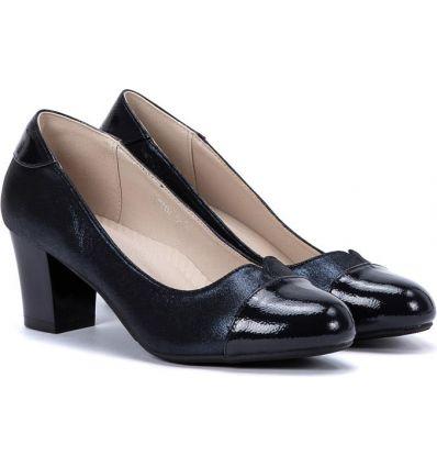 b5c870e03e1aa Ocieplane kozaki damskie Ameila black gold - Sklepy obuwnicze Viola